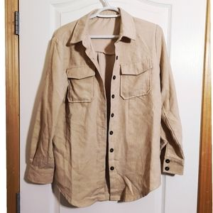 Shien button up loose fit shirt size Small